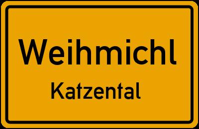Ortsschild Weihmichl Katzental