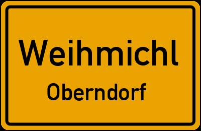 Ortsschild Weihmichl Oberndorf