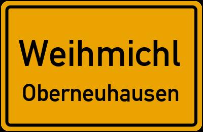 Ortsschild Weihmichl Oberneuhausen