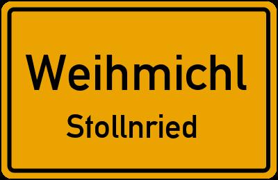 Ortsschild Weihmichl Stollnried