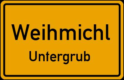 Ortsschild Weihmichl Untergrub