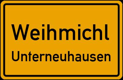 Ortsschild Weihmichl Unterneuhausen