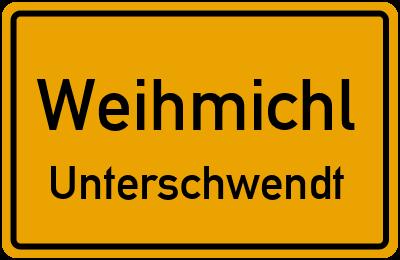 Ortsschild Weihmichl Unterschwendt