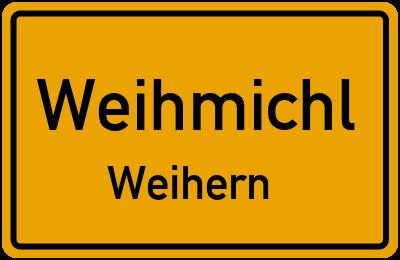 Ortsschild Weihmichl Weihern