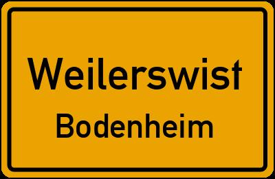 Ortsschild Weilerswist Bodenheim