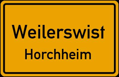 Ortsschild Weilerswist Horchheim