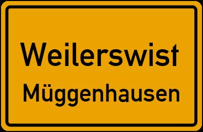 Ortsschild Weilerswist Müggenhausen