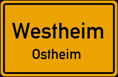 Ortsschild Westheim Ostheim