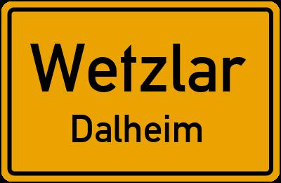 Ortsschild Wetzlar Dalheim