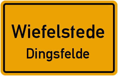 Straßenverzeichnis Wiefelstede Dingsfelde