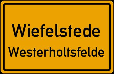 Straßenverzeichnis Wiefelstede Westerholtsfelde
