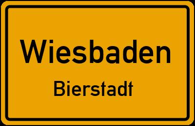 Straßenverzeichnis Wiesbaden Bierstadt