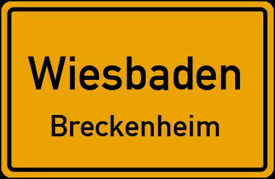 Straßenverzeichnis Wiesbaden Breckenheim
