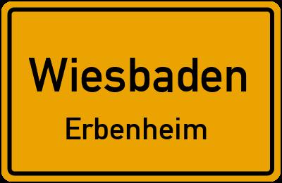 Straßenverzeichnis Wiesbaden Erbenheim