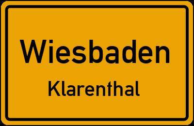 Straßenverzeichnis Wiesbaden Klarenthal