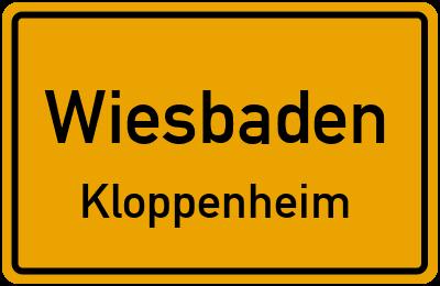 Straßenverzeichnis Wiesbaden Kloppenheim