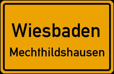 Straßenverzeichnis Wiesbaden Mechthildshausen