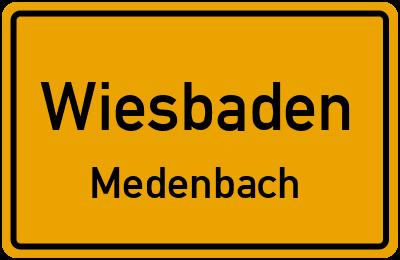 Straßenverzeichnis Wiesbaden Medenbach