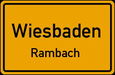 Straßenverzeichnis Wiesbaden Rambach