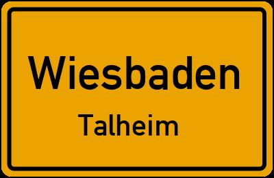 Straßenverzeichnis Wiesbaden Talheim