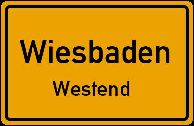 Straßenverzeichnis Wiesbaden Westend