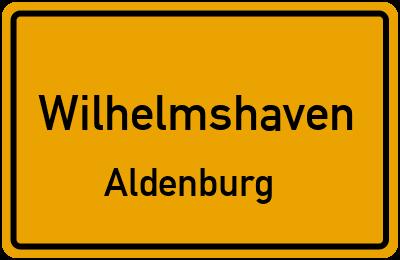 Ortsschild Wilhelmshaven Aldenburg