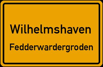 Ortsschild Wilhelmshaven Fedderwardergroden