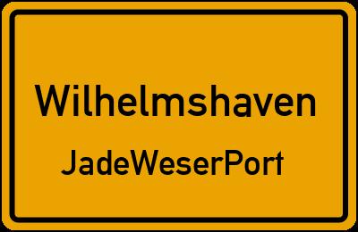 Ortsschild Wilhelmshaven JadeWeserPort