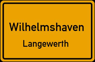 Ortsschild Wilhelmshaven Langewerth