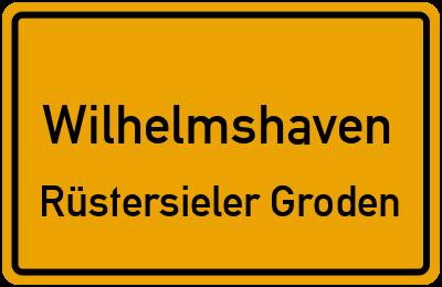 Ortsschild Wilhelmshaven Rüstersieler Groden