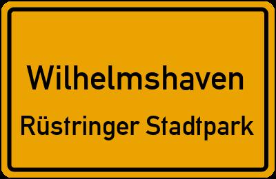 Ortsschild Wilhelmshaven Rüstringer Stadtpark