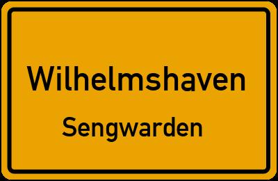 Ortsschild Wilhelmshaven Sengwarden