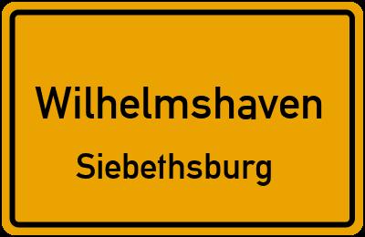 Ortsschild Wilhelmshaven Siebethsburg