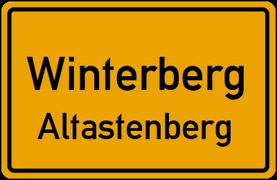 Ortsschild Winterberg Altastenberg
