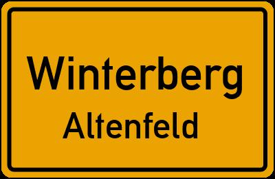 Ortsschild Winterberg Altenfeld