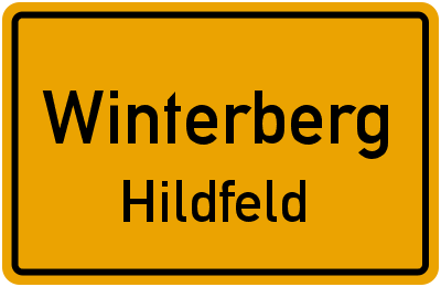 Ortsschild Winterberg Hildfeld
