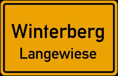 Ortsschild Winterberg Langewiese