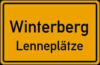 Ortsschild Winterberg Lenneplätze