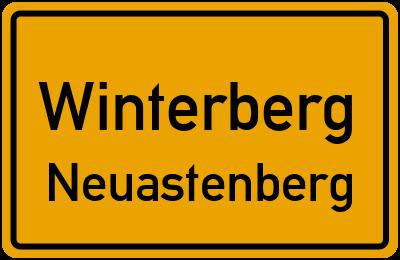 Ortsschild Winterberg Neuastenberg