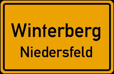 Ortsschild Winterberg Niedersfeld