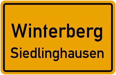 Straßenverzeichnis Winterberg Siedlinghausen