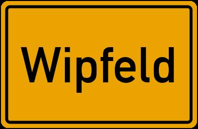 Ortsschild von Gemeinde Wipfeld in Bayern