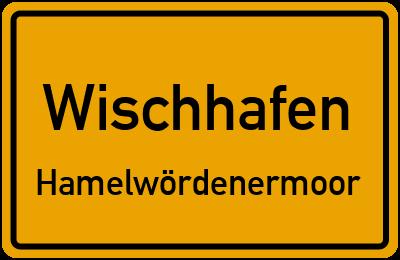 Ortsschild Wischhafen Hamelwördenermoor