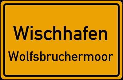 Ortsschild Wischhafen Wolfsbruchermoor