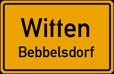 Ortsschild Witten Bebbelsdorf