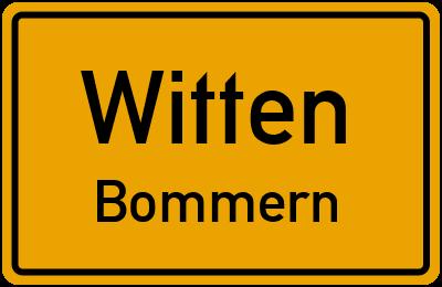 Ortsschild Witten Bommern