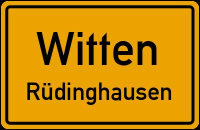 Ortsschild Witten Rüdinghausen