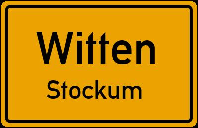 Ortsschild Witten Stockum
