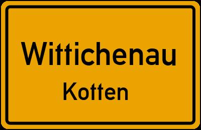 Ortsschild Wittichenau Kotten
