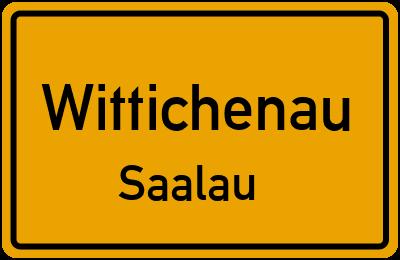 Ortsschild Wittichenau Saalau